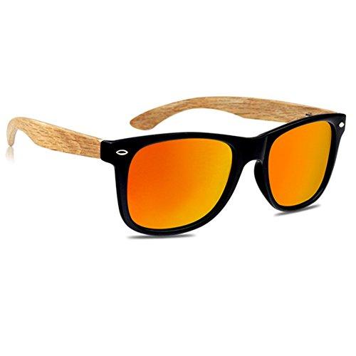 VIENTO Hybrid Forest Hölzerne Sonnenbrille (Orange)