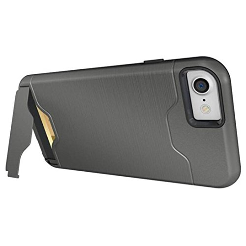 Hkfv Superb creative design iPhone case Amazing causale stile carta cavalletto custodia cover custodia per iPhone 811,9cm iPhone 8Plus 14cm iPhone 8 plus Grey