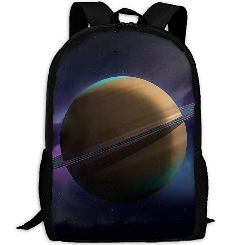 3D Saturn Erwachsenen Reiserucksack Schule Casual Daypack Oxford Outdoor Laptop Tasche College Computer Umhängetaschen