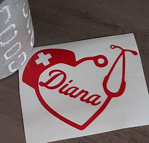 Celycasy Stethoskop-Herz-Aufkleber für Krankenschwester, Aufkleber, Yeti, Aufkleber für Wasserflasche, Tasse, Aufkleber mit Initiale für das Auto, iPad -