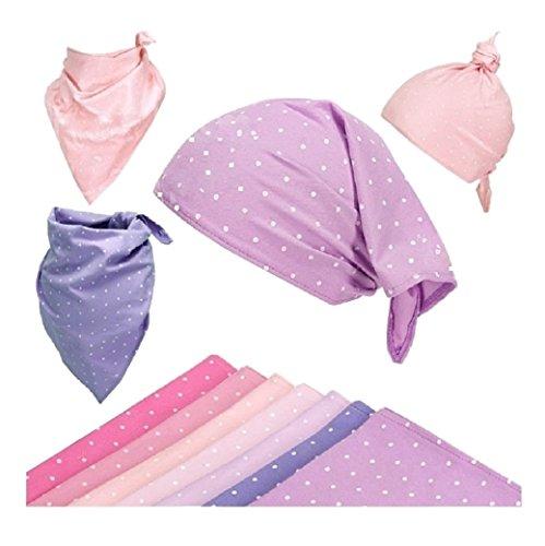 Dreiecktuch Halstuch Kopftuch Spucktuch Latz Halstücher für Mädchen Baby Kinder Baumwolle mit Muster - Punktchen. (Rosa - sehr hell ... Nr. 4)