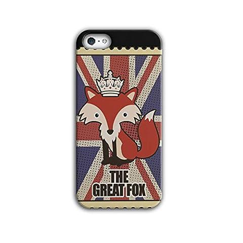 Tier Fuchs Flagge Krone Vereinigtes Königreich Krone Vereinigtes Königreich königlich iPhone 5 / 5S Hülle | Wellcoda