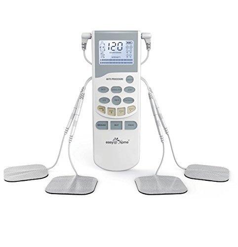Easy@Home Professional Grade TENS Einheit Elektronische ImpulsMassager EHE012PRO - Von hinten beleuchtete LCD-Anzeige, Professional Grade Leistungsstarke Pulsintensität und Akku - FDA zugelassen für die OTC-Nutzung