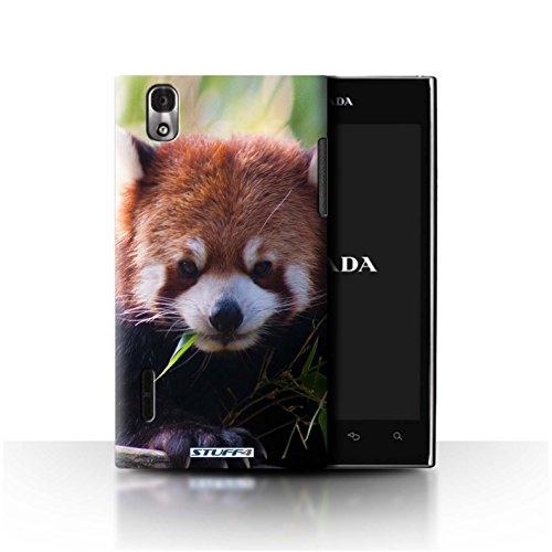 Stuff4® Hülle/Hülle für LG Prada 3.0/K2/P940 / Waschbär Muster/Wilde Tiere Kollektion -