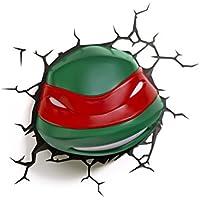 3D Light FX Nickelodean Plastic Teenage Mutant Ninja Turtle Rapheal Light - Green/Red