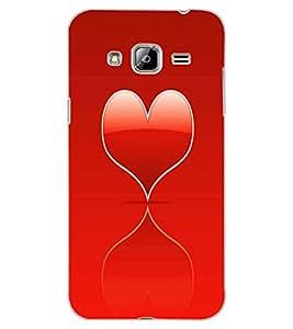 ColourCraft Heart Design Back Case Cover for SAMSUNG GALAXY J3