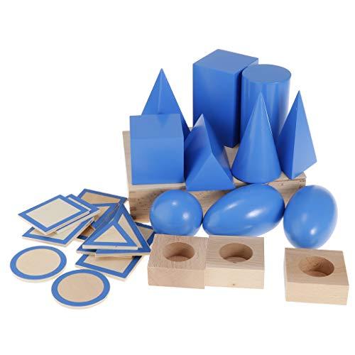 B Blesiya Material De Madera Montessori Matemáticas - Sólidos Geométricos
