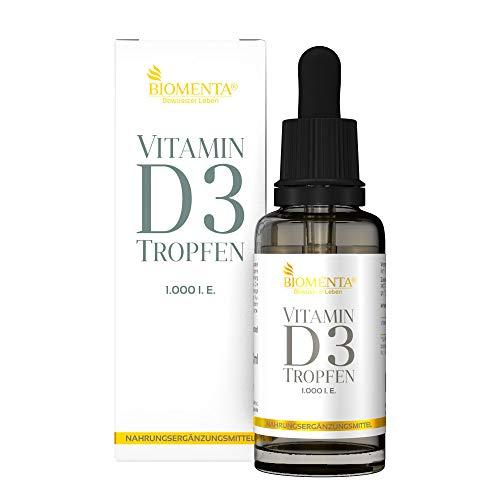 BIOMENTA VITAMIN D3 TROPFEN | 1.000 I. E. | AKTION!!! | VEGAN | MCT Öl aus Kokos mit Vitamin D aus Cholecalciferol