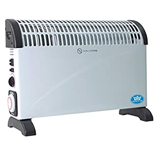 Prem-I-Air 2 kW Convector Heater with Turbo Fan, 24 Hour Timer and Thermostat in White