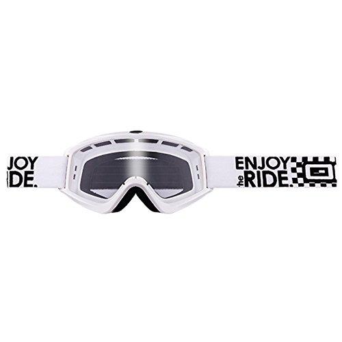 O'Neal B-Zero Goggle Moto Cross MX Brille Downhill Enduro Motorrad, 6025-10, Farbe weiß