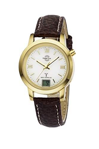 Master Time Funk Quarz Damen Uhr Analog-Digital mit Leder Armband MTLA-10299-13L