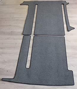 Autix Gastraum Teppich Kompatibel Mit Gastraum Teppich Fußmatte Grau Meliert Vw T6 California Coast Ocean 2 Schienen Auto