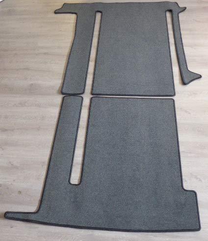 autix Gastraum Teppich kompatibel mit Gastraum Teppich Fußmatte grau meliert VW T6 California Coast Ocean 2 Schienen