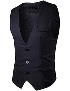 Zhhlaixing Respirable Men's Business Formal Casual Dress Suit Vest Waistcoat Sleeveless