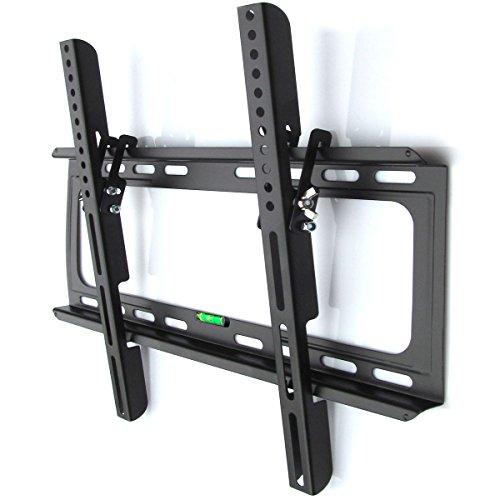 Preisvergleich Produktbild M&G Techno TV oder Monitor Wandhalterung Neigung 15° geeignet für TV und Monitore bis 140 cm Diagonal (55 Zoll) mit VESA Normen in cm: 10x10 | 20x10 | 20x20 | 30x30 | 30x40 | 40x30 | 40x40, Wandabstand max 25 mm , Farbe schwarz, universell passend für alle Monitore und TV-Marke, in bewährter M&G Techno-Qualität, Model 2907