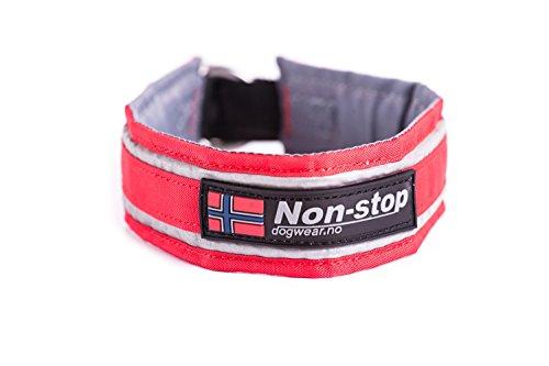 NON-STOP Halsband HALF CHOKE COLLAR mit Zugstopp für Hunde Rot 45,0 cm