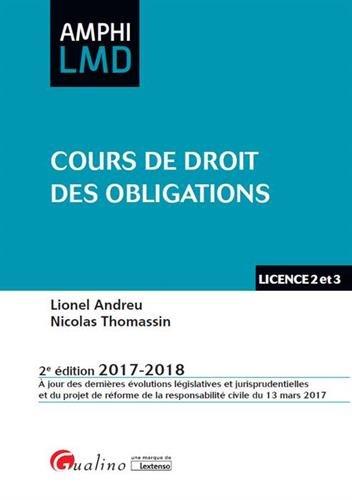 Cours de droit des obligations par Lionel Andreu