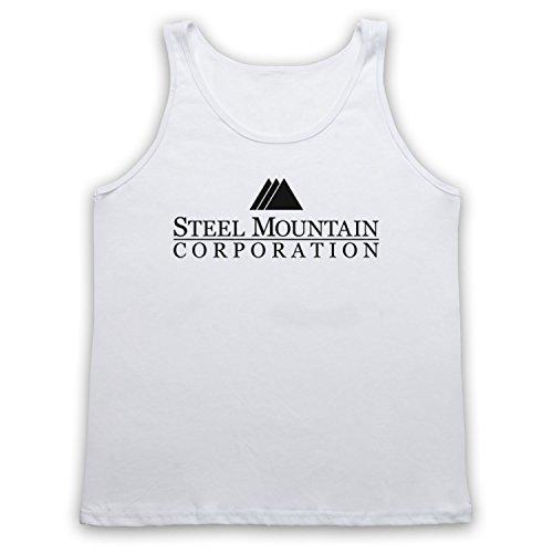 Mr Robot Steel Mountain Logo Tank-Top Weste Weis