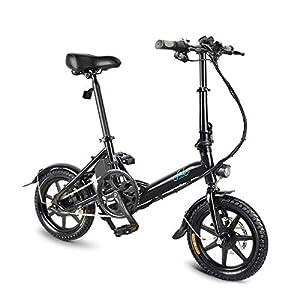 41GBkEGhwkL. SS300 mymotto Bicicletta Elettrica Pieghevole a 14 Pollici per Bici a 3 velocità Ultraleggera da 250 W, Batteria al Litio Ion 36V 7.8 Ah
