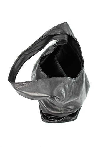 a975b503b99c8 Leder Handtasche Schultertasche Shopper Modena Damen Ledertasche  Umhängetasche - Farbauswahl - 37x30x13 ...