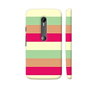 Colorpur Moto G3 Cover - Simply Stripes In Ice Cream Colors Case