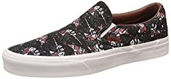 Vans Unisex Classic Slip-On Samurai Warrior and Black Loafers and Moccasins - 7 UK/India (40.5 EU)