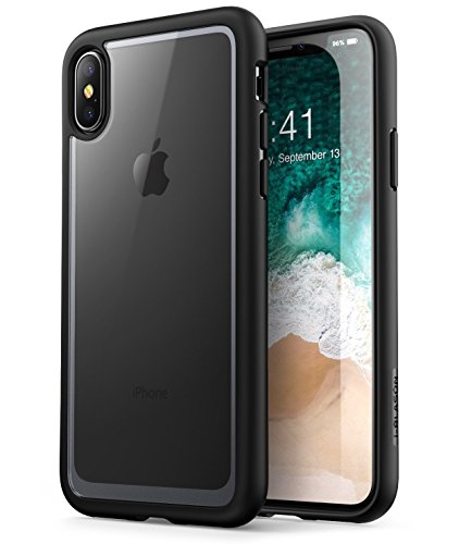 i-Blason Case for Phone X (2017)/ iPhone XS (2018), [Scratch Resistant] Clear [Halo Series] Case (Clear/Black)
