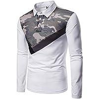 Yvelands Camisa de Malla para Hombre, Camisa de Manga Larga Casual para Hombre Camisa de Manga Larga con Tapa de Camuflaje.