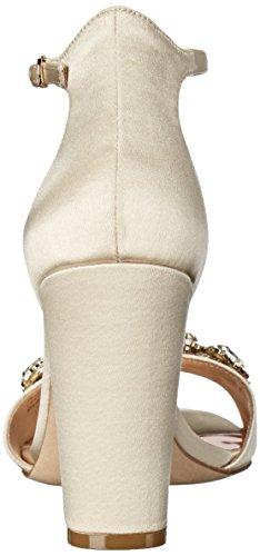 Badgley Mischka Lennox Textile Sandale Ivory