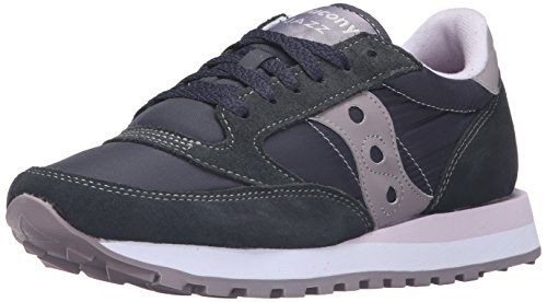 Saucony - Jazz Original - Chaussures de Cross - Femme Gris (Charcoal/Grey)