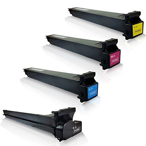 4x kompatible Tonerkartuschen für Konica Minolta BizhubC203 BizhubC253 Bizhub C203 Bizhub C253 Bizhub C 203 Bizhub C 253 TN-213K TN-213C TN-213M TN-213Y Black Cyan Magenta Yellow Sparset