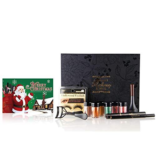 CHSEEA 11 Stück Augen Makeup Set Schmink Geschenkset Mit Box Kosmetik Makeup Paletten Schminkkoffer...
