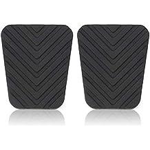 Par de almohadillas de pedal Pudincoco para Hyundai Accent Tucson Tiburon Elant Genesis (negro)
