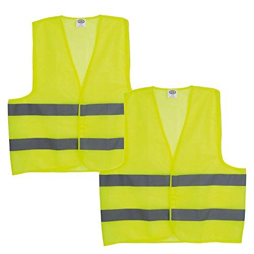 Aituo Chaleco de seguridad reflectante de alta visibilidad andar en motocicleta o correr andar en bicicleta trabajar Mant/éngase seguro Correr