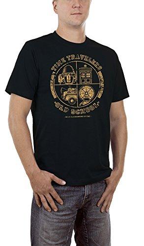 Touchlines Herren T-Shirt Time Travellers, Gr. XXXXX-Large, Schwarz (Black ()