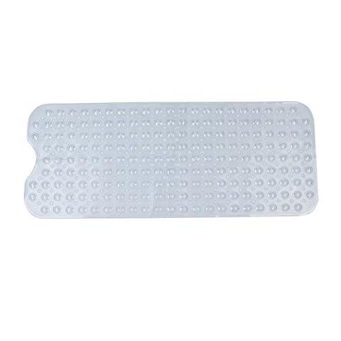 ANPI PVC Shower Mat, Sucker for Long Non-Slip Safe Clean Anti-bacterial Machine Washable Bathtub Mat, 39*16in/100*40cm,
