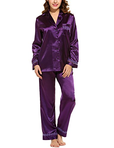 hotouch-set-pigiama-a-maniche-lunghe-in-raso-delle-donne-pigiameriacolore-viola-scuro