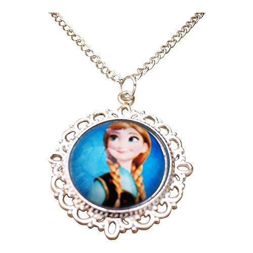 Eingefroren. 'Frozen' Prinzessin Anna Glas Cabochon AnhŠnger Halskette mit 18