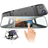 Dash Cam JEEMAK 1080P Ips Touch Screen 170 Wide Angle Truck Rearview Dash Camera Vehicle Recorder, Car DVR With Parking Monitor WDR Loop Recording