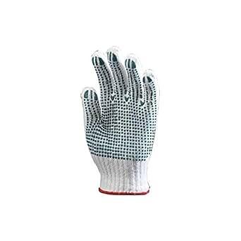 Coverguard - Lot 12 paires de gants polyester / coton tricoté avec picots sur 1 face - 9-10