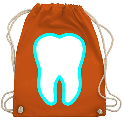 Karneval & Fasching - Farbiger Zahn - Zahnfee Kostüm - Unisize - Orange - WM110 - Turnbeutel & Gym Bag (Orange Farbige Kostüme)