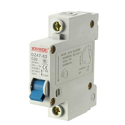 ZCHXD 1 Pole 20A 230/400V Low-voltage Miniature Circuit Breaker Din Rail Mount DZ47-63 C20 Din Mount Circuit Breaker