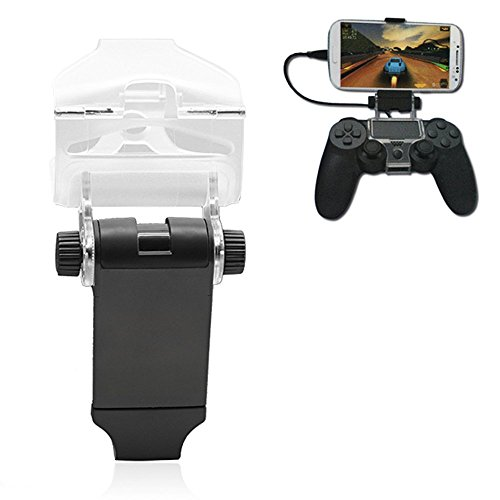 Racksoy PS4 Smart Clip Gameklip Handyhalter für PS4 PlayStation 4 Kontroller mit OTG Kabel Android Phones