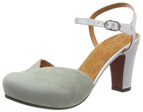Chie Mihara Ilda, Scarpe col Tacco con Cinturino Dietro la Caviglia Donna, Verde (Ante Cyprus Plata Salvia), 38 EU