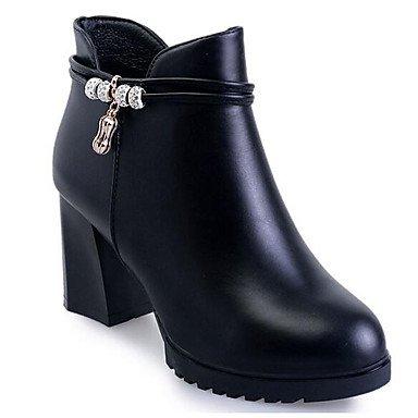 Stivali da donna Comfort Uomo Primavera Casual Comfort Rubino Nero Flat Black