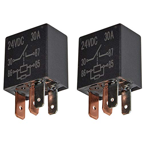 24 Volt 30 Amp (Ehdis 4 Pin 24VDC 30A SPST Multi-Purpose Relay Heavy Duty Standard-Relay-Set, Inhalt: 2 Stück)