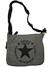 b7d409fdb372b JameStyle26 STERN Umhängetasche Damen Tasche Star Fashion Canvas Stoff Stamp