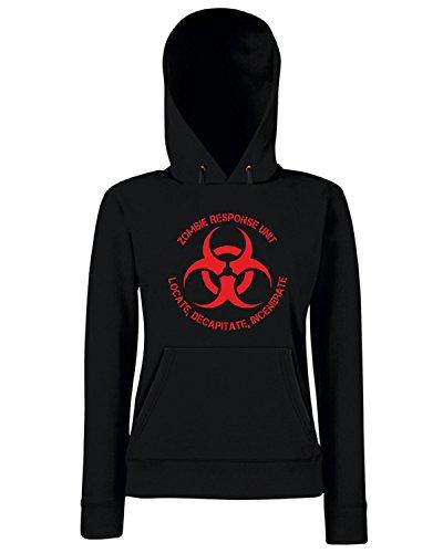 T-Shirtshock - Sweats a capuche Femme TZOM0063 zombie response unit Noir