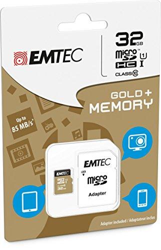 Foto Scheda di memoria 32GB per Huawei Ascend Mate 7Gold-Micro SD classe 10+ Adattatore SD-Emtec