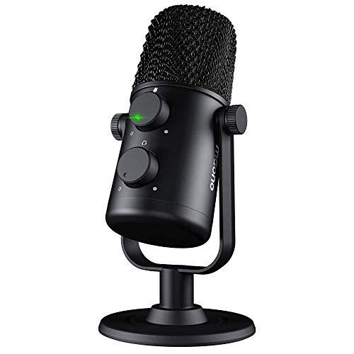 USB-Mikrofon MAONO AU-902 Nieren-Kondensator-Podcast-Mikrofon mit doppelter Lautstärkeregelung, Stummschalttaste, Monitor-Kopfhöreranschluss, Plug-and-Play für Vocal, YouTube, Livestream, Aufnahme